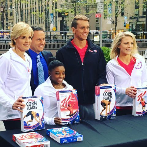 Shields and the rest of Team Kellogg's in Union Square.