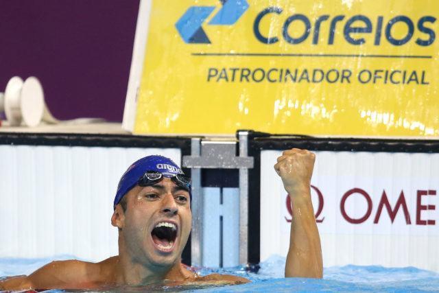 Italo Duarte. Trofeu Maria Lenk de Natacao, realizado no Centro Aquatico Olimpico. 20 de abril de 2016, Rio de Janeiro, RJ, Brasil. Foto: Satiro Sodré/ SSPress