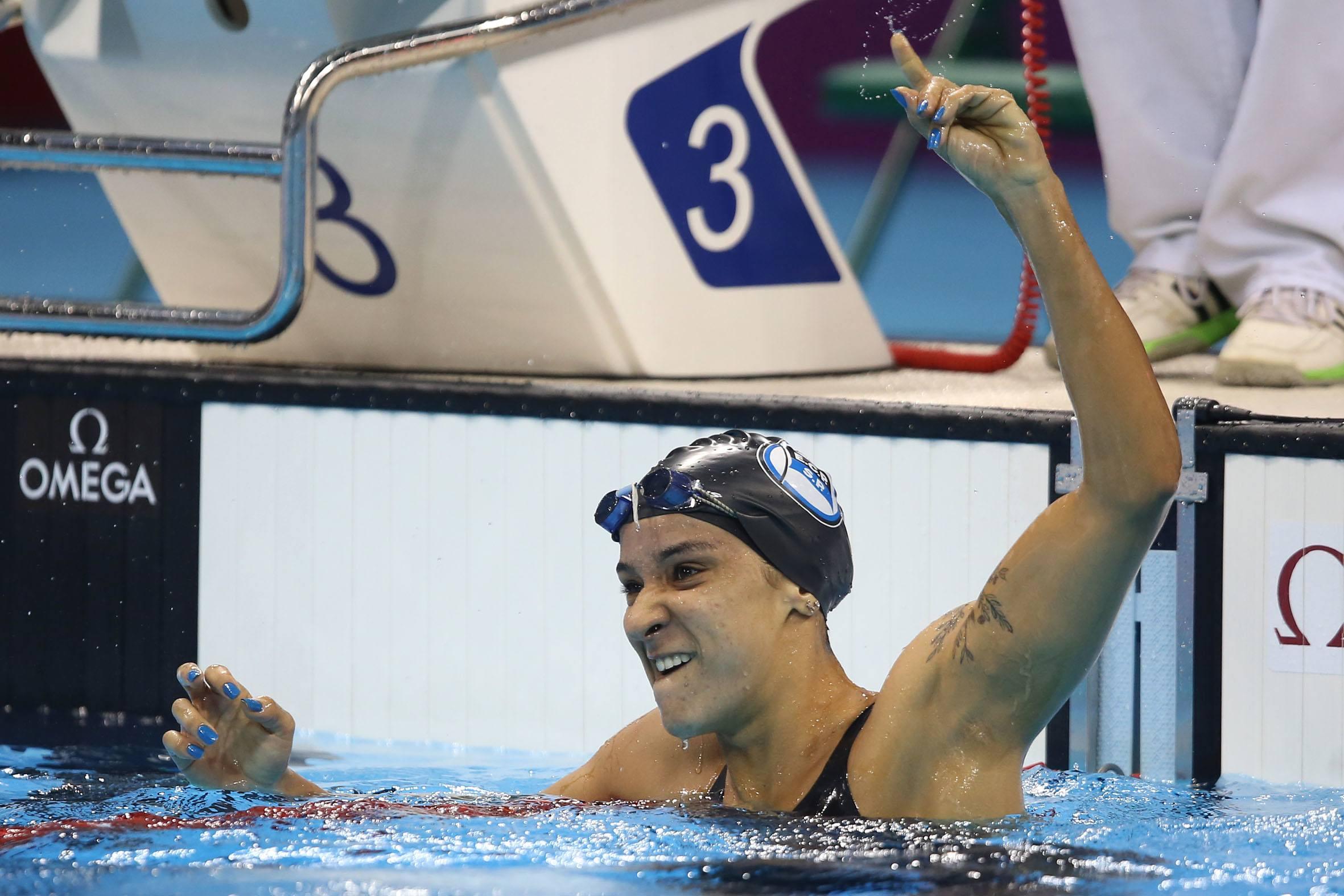 Joanna Maranhao. Trofeu Maria Lenk de Natacao, realizado no Centro Aquatico Olimpico. 15 de abril de 2016, Rio de Janeiro, RJ, Brasil. Foto: Satiro Sodré/ SSPress