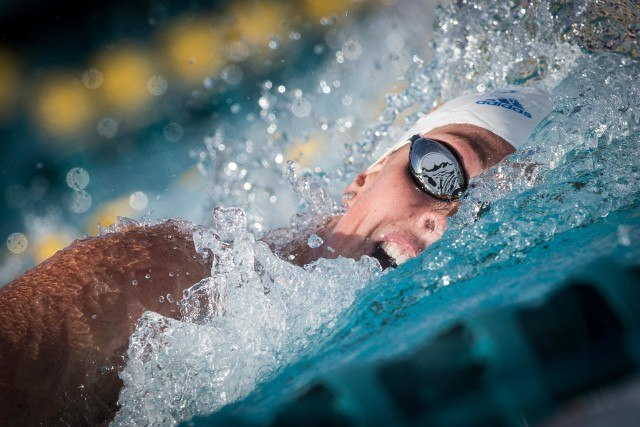 Allison Schmitt in the finals of the 200 free at the Mesa Pro Swim Series (photo: Mike Lewis)