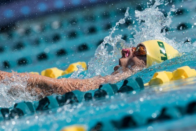 Liam Bell in the prelims of the 200 IM Mesa, Arizona (photo: Mike Lewis)