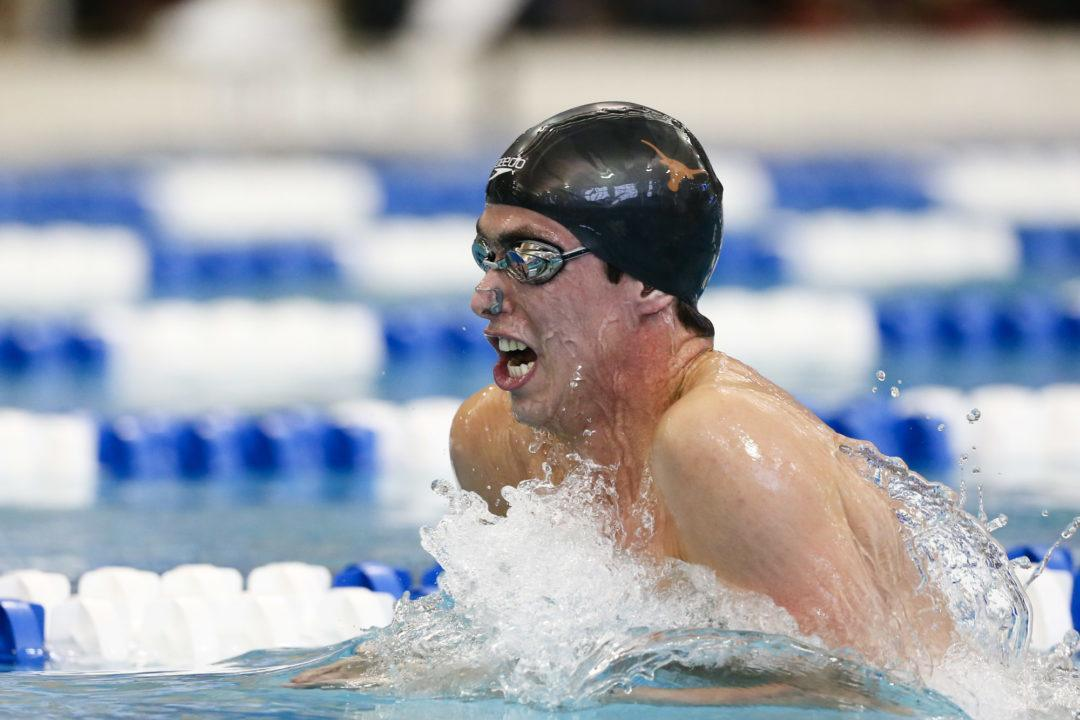 Will Licon Goes 51.1 In 100 Breast At Big 12 Time Trials
