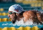 Michael Phelps takes the win in the 200 fly at the Mesa stop of the USA Swimming Pro Swim Series (photo: Mike Lewis)
