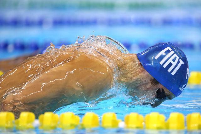 Marcos Macedo. Trofeu Maria Lenk de Natacao, realizado no Centro Aquatico Olimpico. 20 de abril de 2016, Rio de Janeiro, RJ, Brasil. Foto: Satiro Sodré/ SSPress