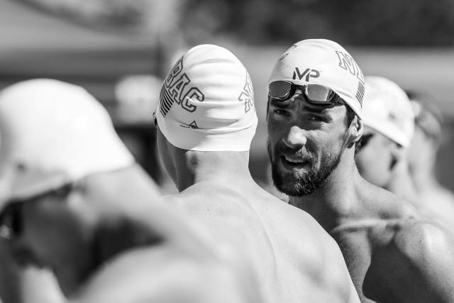Michael Phelps 200 IM prelim swim Mesa, Arizona (photo: Mike Lewis)
