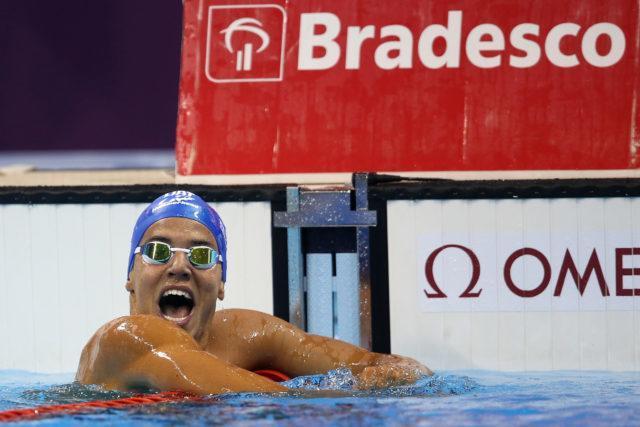 Miguel Valente. Trofeu Maria Lenk de Natacao, realizado no Centro Aquatico Olimpico. 20 de abril de 2016, Rio de Janeiro, RJ, Brasil. Foto: Satiro Sodré/ SSPress