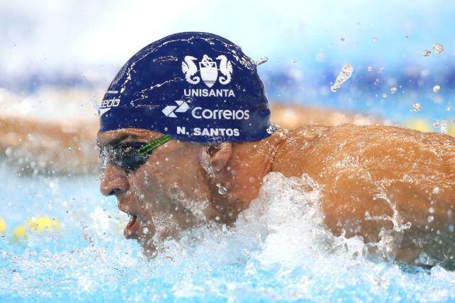 Nicholas Santos. Trofeu Maria Lenk de Natacao, realizado no Centro Aquatico Olimpico. 20 de abril de 2016, Rio de Janeiro, RJ, Brasil. Foto: Satiro Sodré/ SSPress