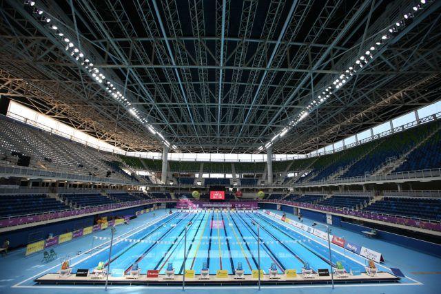 Trofeu Maria Lenk de Natacao, realizado no Centro Aquatico Olimpico. 20 de abril de 2016, Rio de Janeiro, RJ, Brasil. Foto: Satiro Sodré/ SSPress