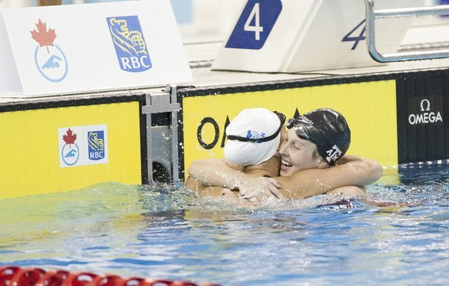 Emily Overholt Sydney Pickrem Canadian Olympic Swimming Trials
