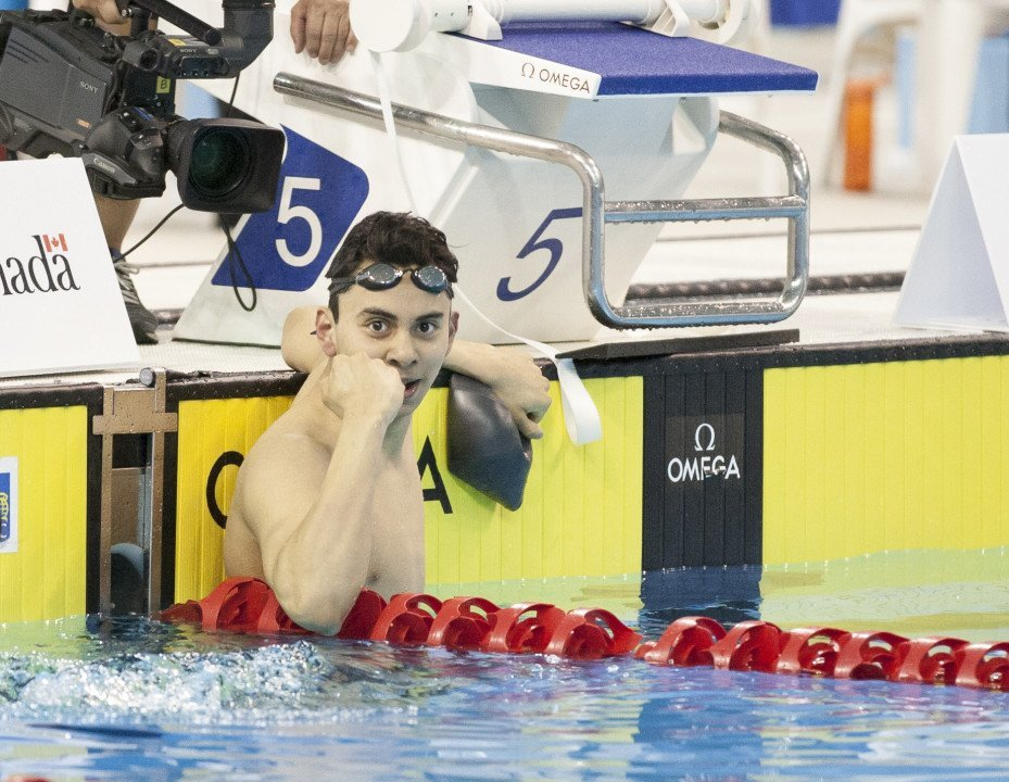 Javier Acevedo Resets Canadian, Junior World Records In 50 Back