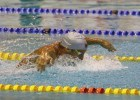 DURBAN, SOUTH AFRICA - APRIL 13: Chad le Clos on his way to qulaifying time and gold medal in the 200m butterfly for mens final during the finals session on day 4 of the SA National Aquatic Championships and Olympic Trials  on April 13 , 2016  at the Kings Park Aquatic Center pool in Durban, South Africa. Photo Credit / Anesh Debiky/Swim SA