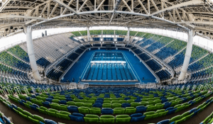 Inside of Olympic Aquatics Stadium