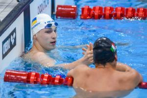 Govorov was victorious in the 50 fly in London, the only swimmer under 23 seconds.