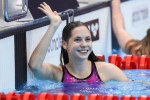 Boglarka Kapas Breaks Katinka Hosszu's Hungarian Record in the 400 Fre