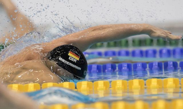 Paul Biedermann at the 2016 German National Championships, 100m Freestyle final, photo by Mirko Seifert