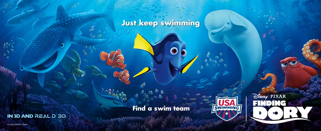 "Disney Pixar's ""Finding Dory"" team up with USA Swimming"