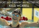 Kelsi  Worrell Press Release signing 2016  (courtesy of TYR, a swimswam partner)