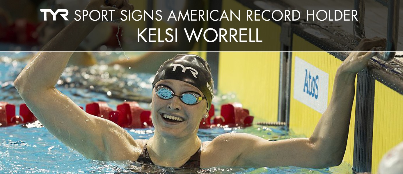 TYR Sport signs American Record Holder Kelsi Worrell