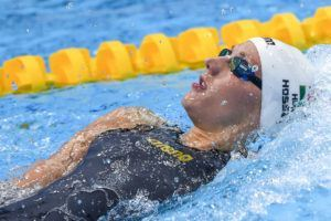 Katinka Hosszu in the 200 back final in London.