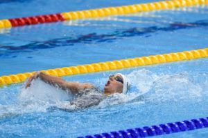 Hosszu held off Daryna Zevina over the final 50 to win gold in the 200 back.