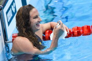 Katinka Hosszu was happy with her win in the 200 back.