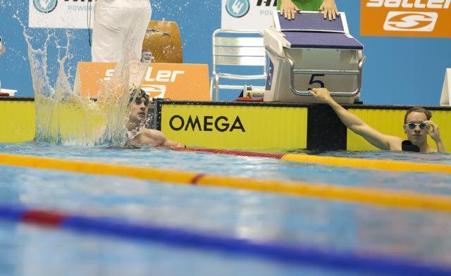 Fabian Schwingenschlögl at the 2016 German Championships, final 100 m breaststroke, photo by Mirko Seifert