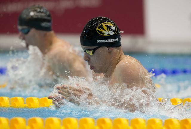 Champion 50 m breaststroke at German National Championships 2016, photo by Mirko Seifert