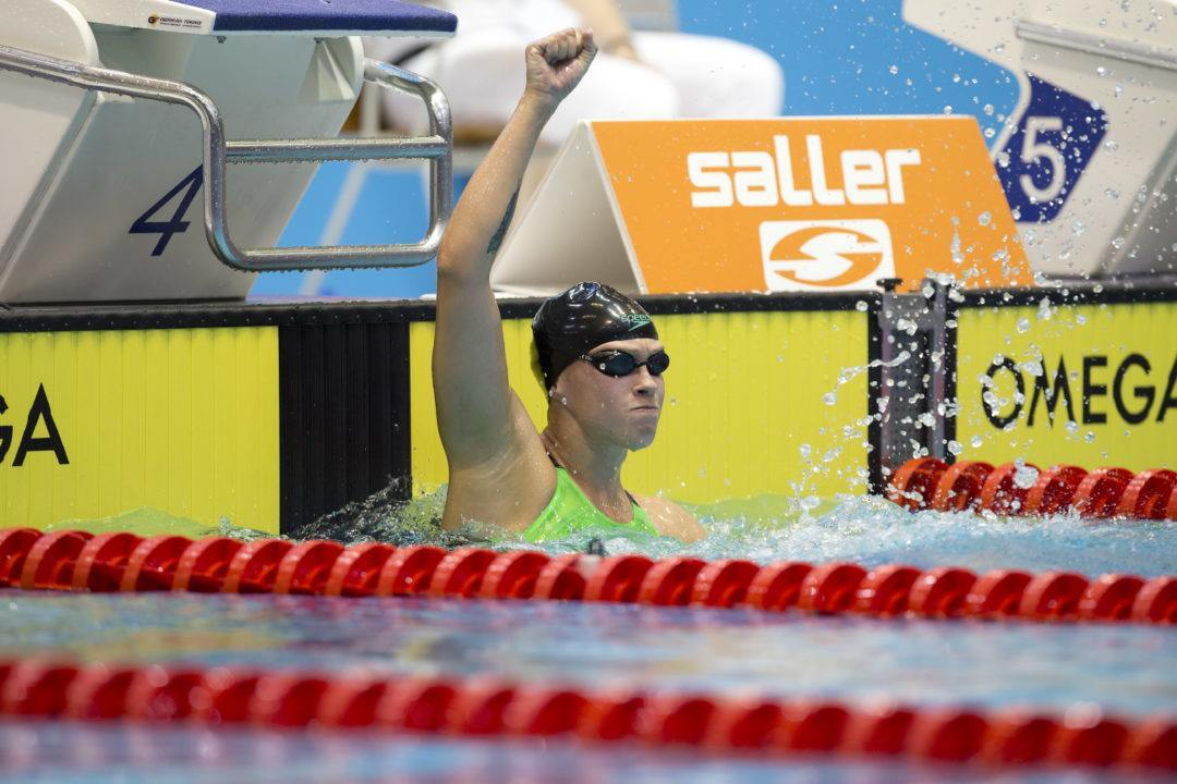 Germany's Sarah Köhler set 2018 fastest time in 1500m freestyle
