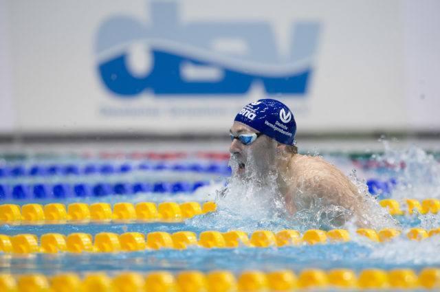Marco Koch, final 100 m breaststroke, 2016 German National Championships, photo by Mirko Seifert
