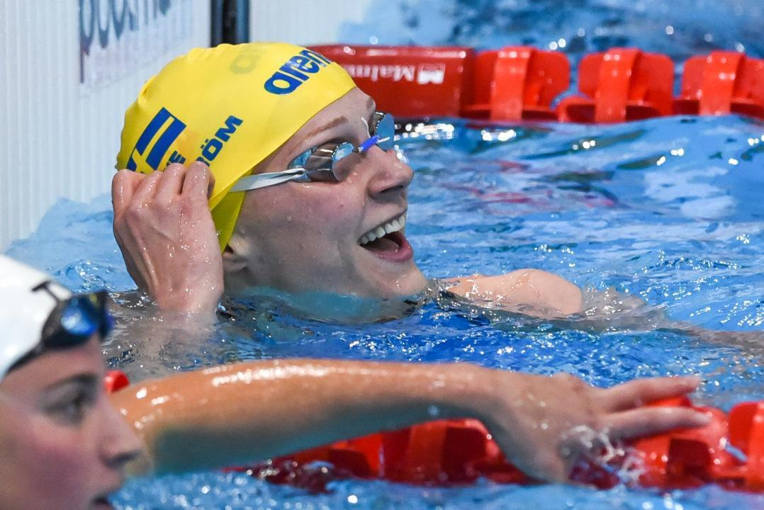Sarah Sjostrom Cranks Out Championship Record in 100 Fly Semis