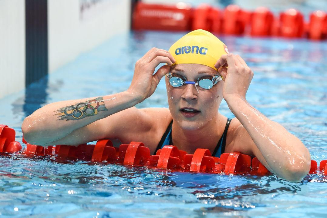 Sarah Sjöström Pops 50 Back NR, Splits 52.4 at Swedish Nationals