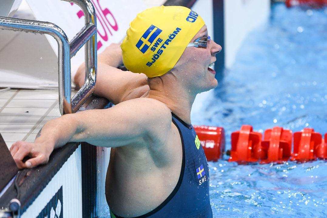 Sjostrom Misses WR By 0.02, Goes 3rd Fastest 100 Free Of All-Time