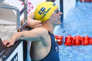 Sarah Sjostrom won the 50 fly in London.