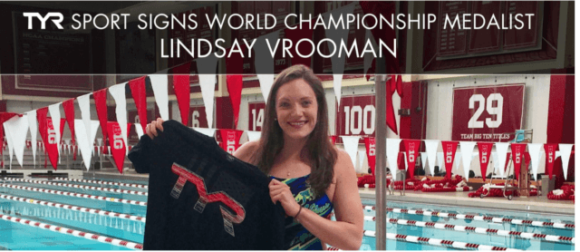 Lindsay Vrooman, TYR Sport signing, courtesy of TYR, a SwimSwam partner