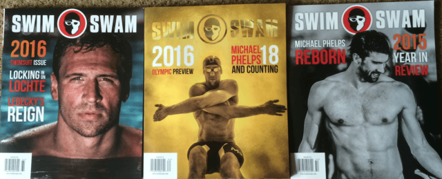 SwimSwam Magazine 3 issue featured image, 2015 Winter, 2016 Spring, 2016 Summer Issue