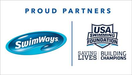USA Swimming Foundation and Swimways banner, courtesy of USA Swimming Foundation, industry partner, media is ok to run