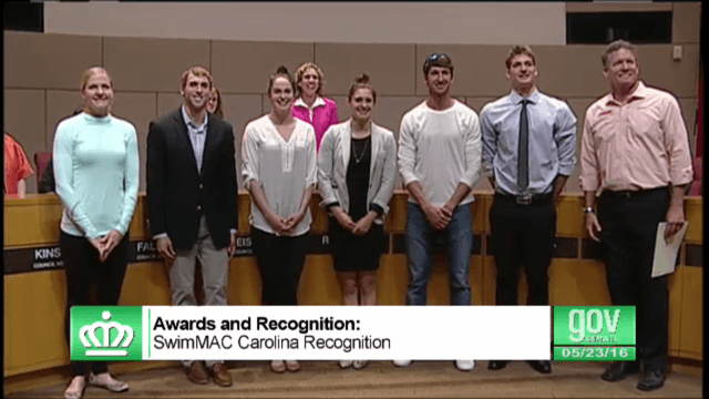 SwimMac Elite Recognized At City of Charlotte Council Meeting