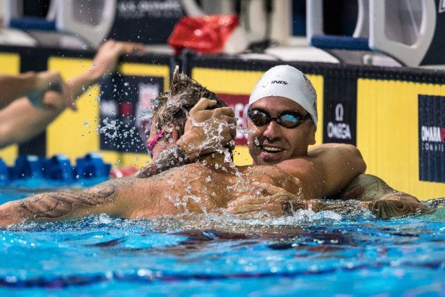Anthony Ervin and Caeleb Dressel (photo: Mike Lewis)