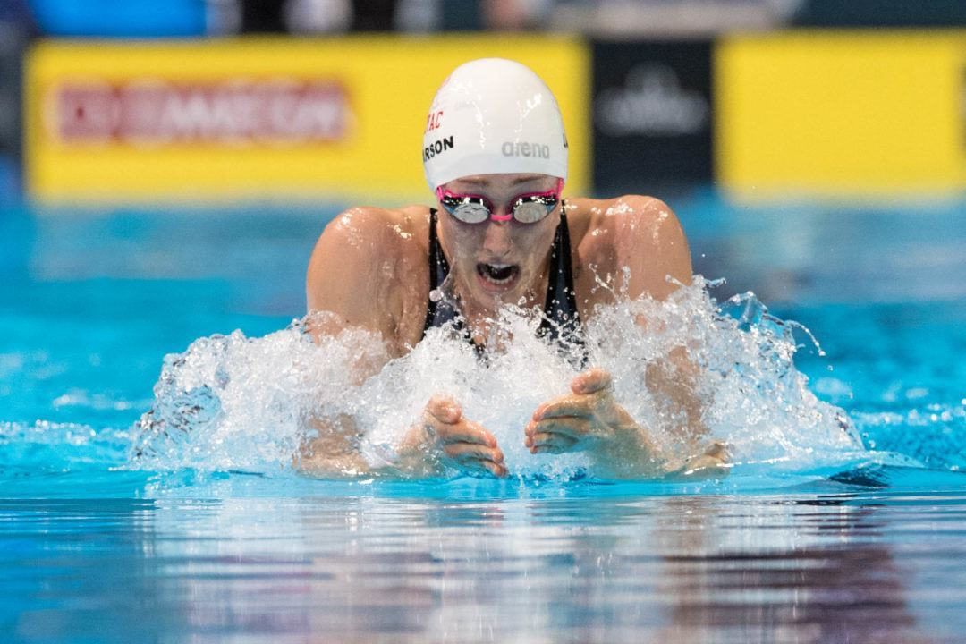 Breeja Larson Drops 58.1/2:06.6 Breast at Western Sectionals in Texas