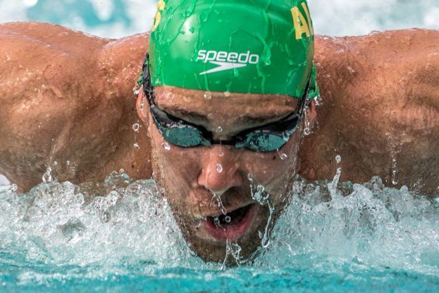 Grant Irvine prelims 200 fly Santa Clara Pro Swim (photo: Mike Lewis)
