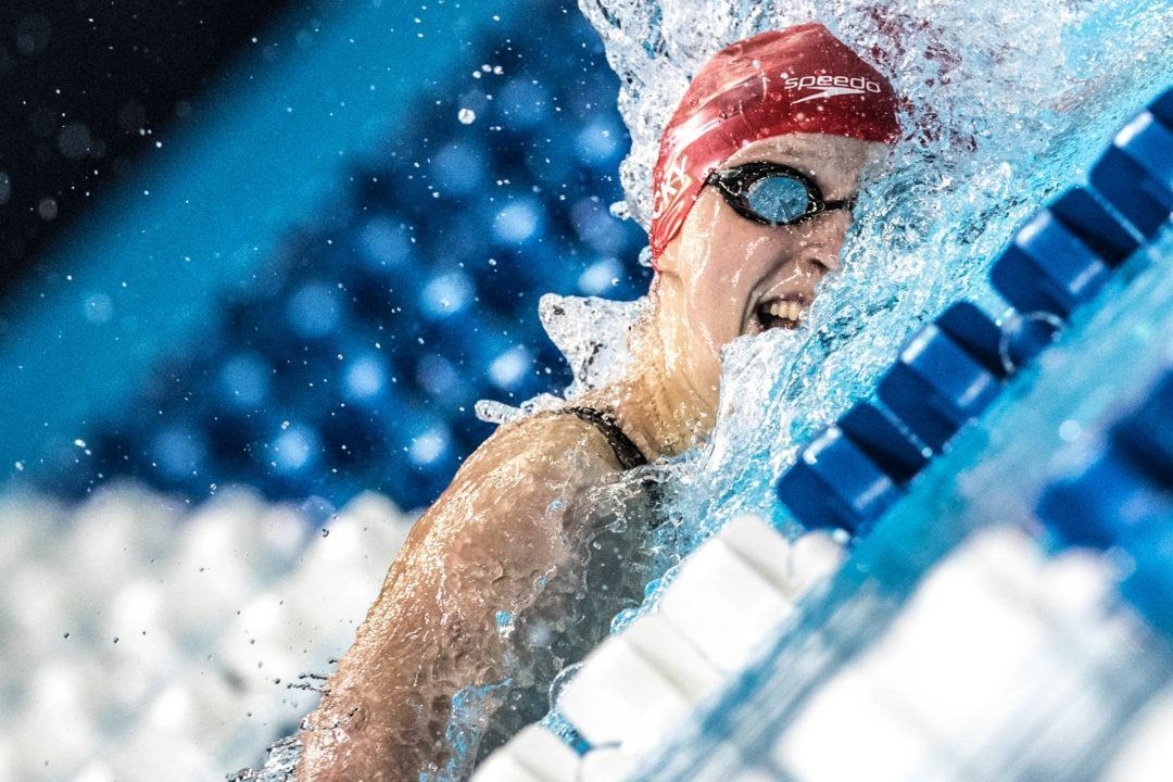 WATCH: Katie Ledecky Break NCAA Records in 1000, 1650 Free
