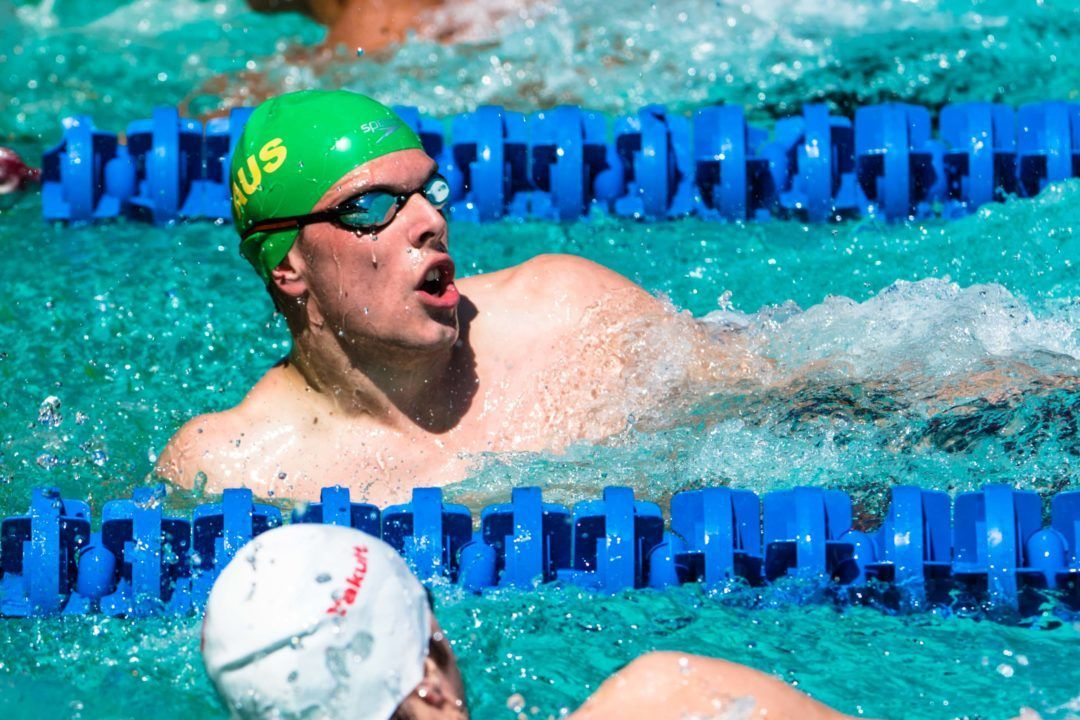 Race Video: #KingKyle Puts Up 100 Free PB Of 47.48