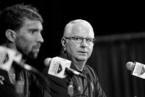 Michael Phelps and Bob Bowman by Mike Lewis
