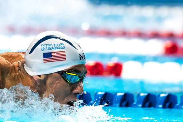 Michael Phelps prelim 200 fly 2016 Olympic trials (photo: Mike Lewis)