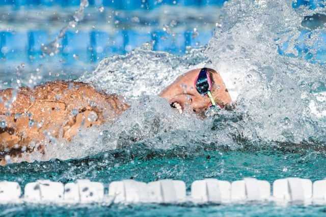 Sun Yang in the finals of the 200 free Santa Clara Pro Swim Series (photo: Mike Lewis)