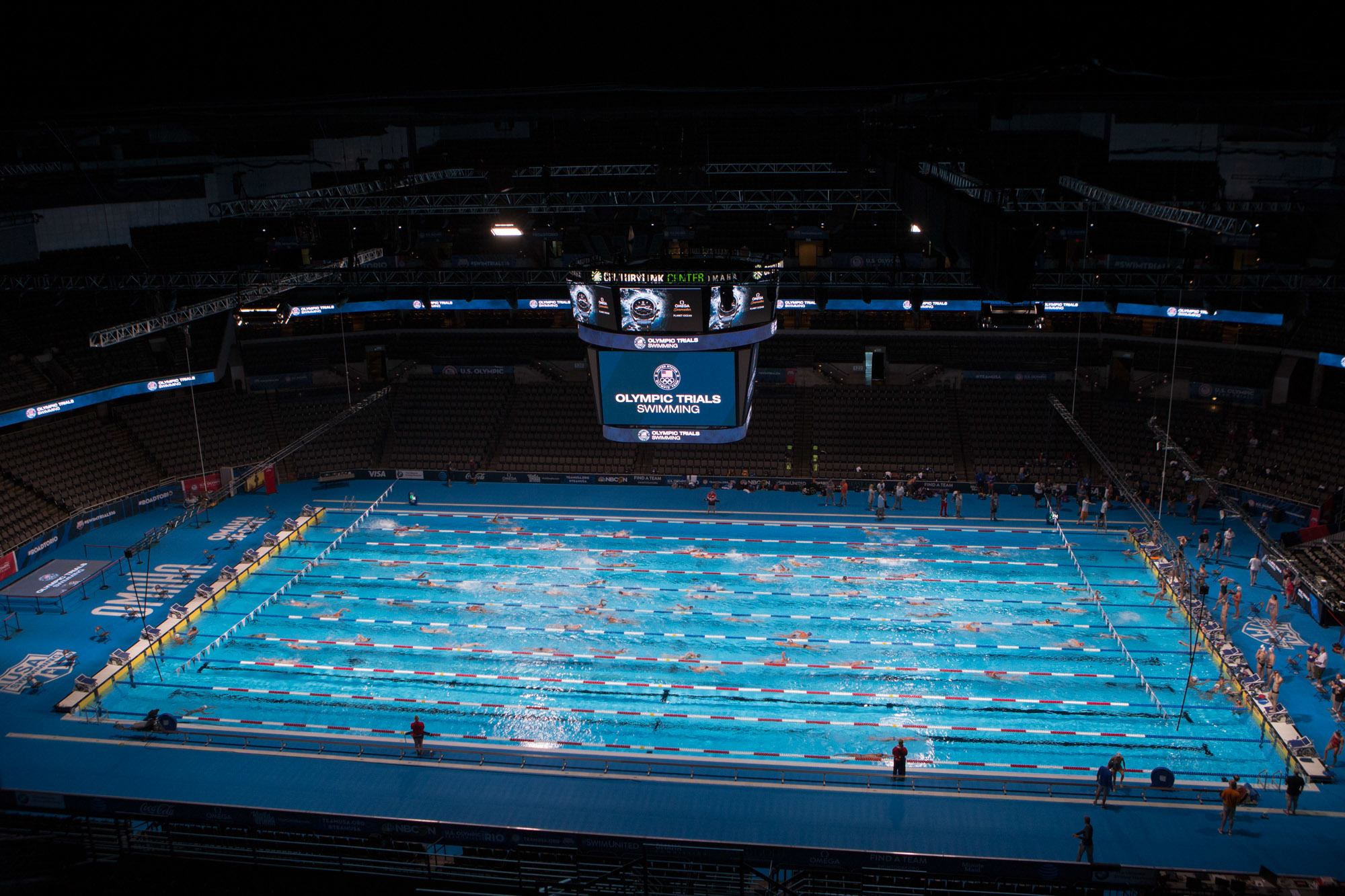 2016 olympic trials competition pool build video - Olympic Swimming Pool 2016