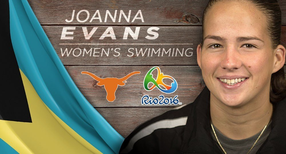 Texas's Joanna Evans Clinches 800 Free Spot on Bahamian Olympic Team