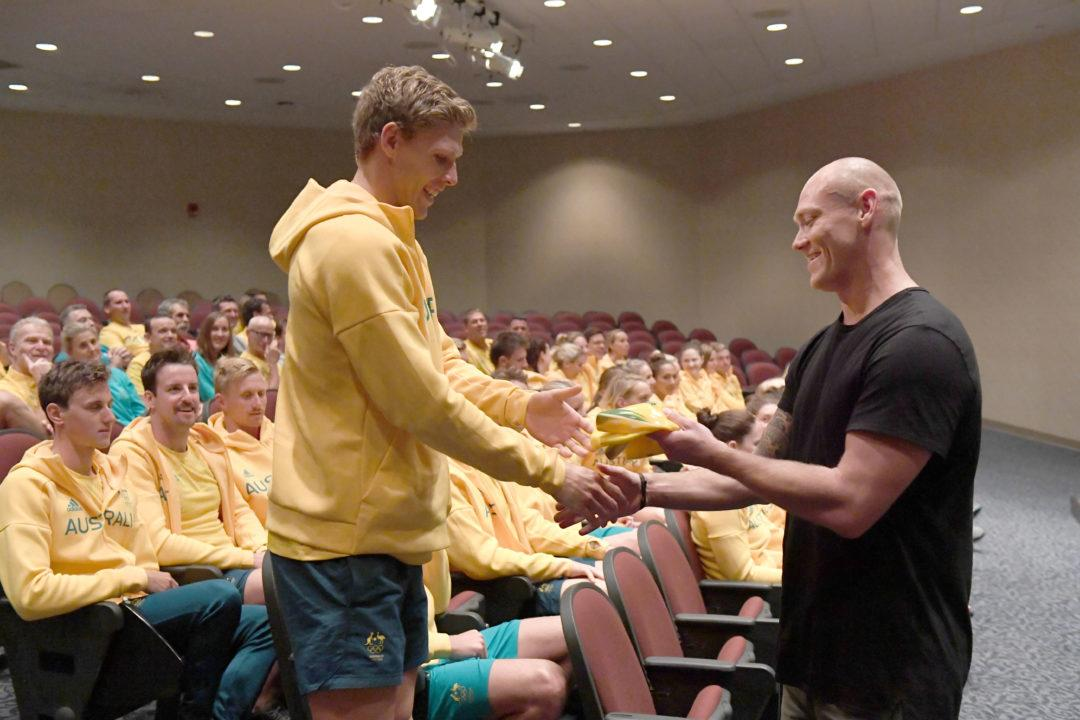 Michael Klim Joins Australian Team In Auburn To 'Cap' Off Staging Camp