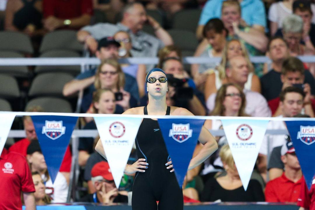 Ali DeLoof Shaves American Record 50 Back by .01 in Lead-Off
