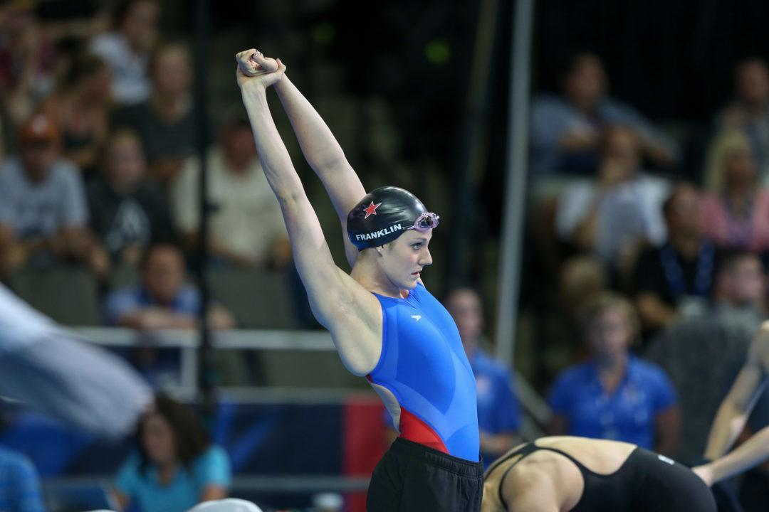 Missy Franklin Back in the Pool After Double Shoulder Surgery